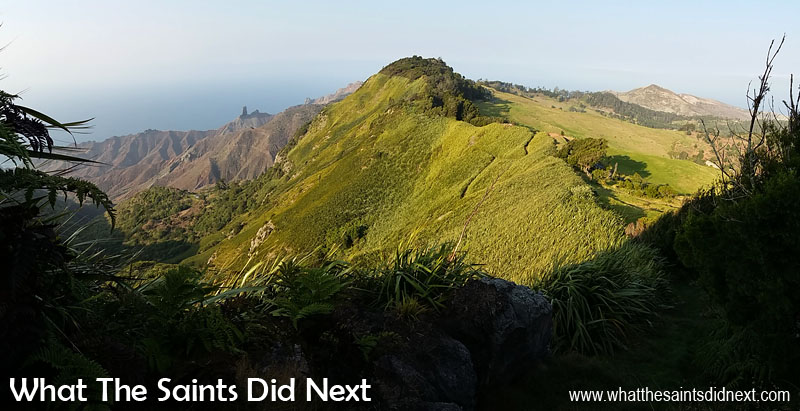 Go Large - I really like the panoramic feature on my mobile phone camera. This is an early morning view across the Blue Hill and Sandy Bay landscapes of St Helena. The panoramic shows off the changing terrain. Tips To Improve Your Mobile Photography.