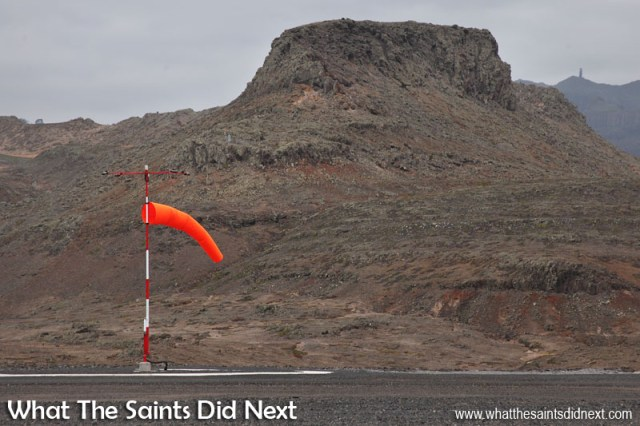 Wind speeds were low today. Would have been a good day for aircraft to land! The first St Helena Airport runway dash.