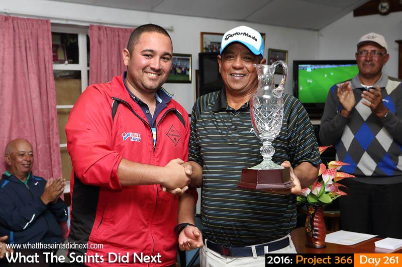 'Harvest moon' 17 September, 2016, 17:40 - 1/80, f7.1, ISO-400 Larry Legg (right) wins 2016 Golf Open.