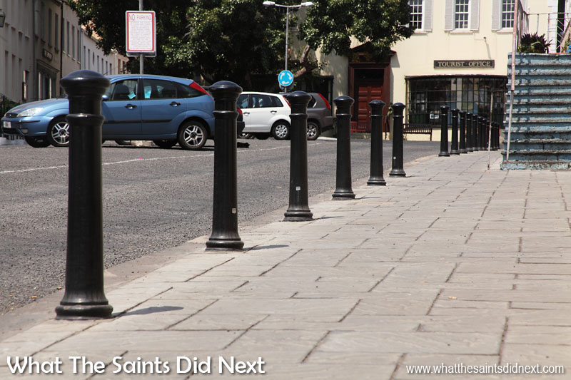 The main street pavements in Jamestown, St Helena, were given a major upgrade two years ago. New paving slabs were laid the length of the street making the walkways instantly more attractive and safer to use, for everyone including tourists. Bollards were also installed for the first time, another improved safety feature for pedestrians. World Tourism Day 2016 - Tourism for All