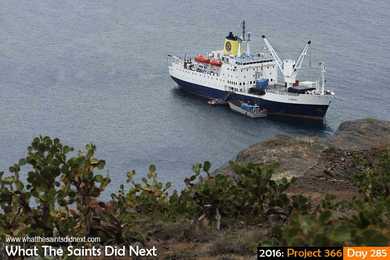 'Seven seconds' 11 October 2016, 16:22 - 1/250, f8, ISO-200 What The Saints Did Next - 2016 Project 366 RMS St Helena at anchor in James Bay, having arrived earlier in the day from Ascension Island.