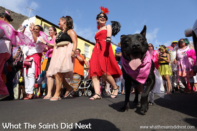 Carnival 2016 through historic Jamestown, St Helena. This year's theme, 'Taking Flight' brought out wings of all shapes and sizes.