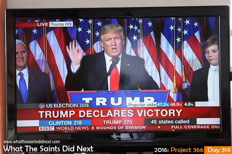 BBC World live TV coverage of US Presidential election as Donald Trump wins race to the White House.