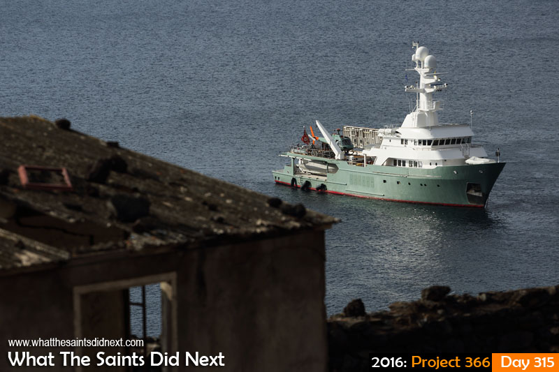 'Windows' 10 November 2016, 16:42 - 1/800, f8, ISO-200 What The Saints Did Next - 2016 Project 366 Luxury motor yacht, Karima, visiting St Helena.