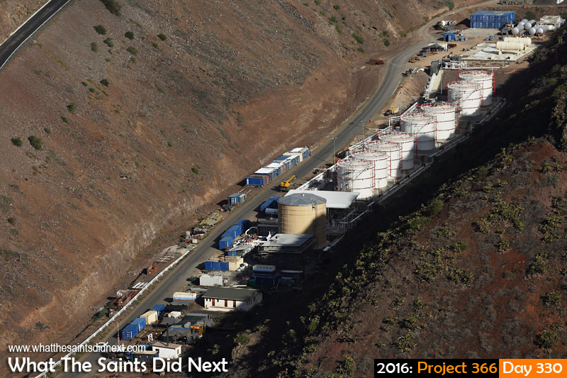 'Castro' 25 November 2016, 16:41 - 1/800, f8, ISO-200 What The Saints Did Next - 2016 Project 366 New fuel farm in Ruperts Valley, St Helena.