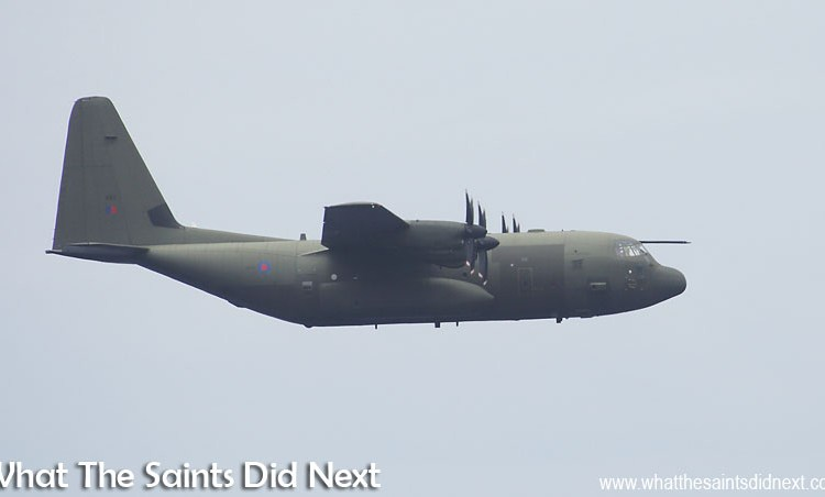 RAF C-130 Hercules: First Military Flight Lands At St Helena Airport