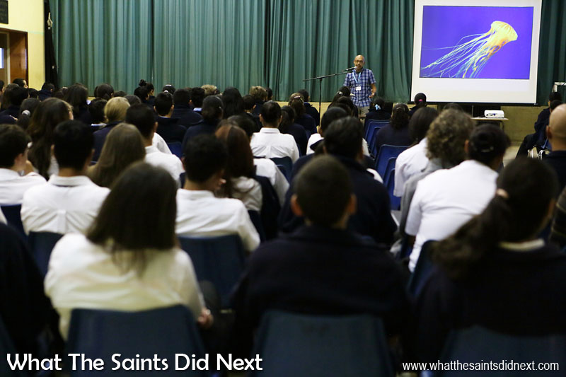 What The Saints Did Next with a photography presenation at Prince Andrew School on St Helena, in support of European Language Day.Another great opportunity to help enthuse young people about the exciting and creative potential of learning through photography.