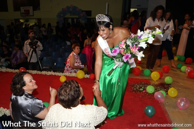 The brand new, Miss St Helena 2016, Kimley Yon, at the end of the show being congratulated by friends and family. St Helena 2016: The Year In Review