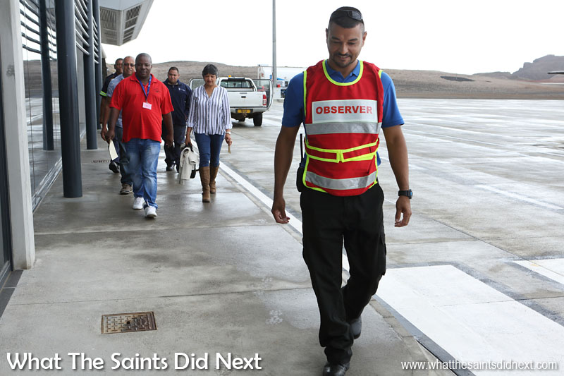 Volunteers and airport staff taking part in a disaster training exercise at St Helena Airport on 17 June. St Helena Island 2016: The Year In Review