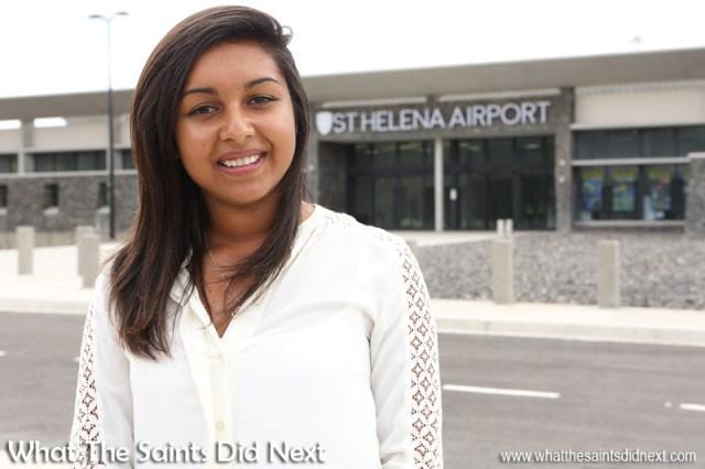 Sasha Bargo. Flying from St Helena Airport.