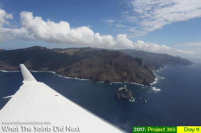 'Emission admission' 11 January 2017, 10:41 - 1/1250, f8, ISO-200 What The Saints Did Next - 2016 Project 365. Flying from St Helena Airport, around the island in 10 minutes.