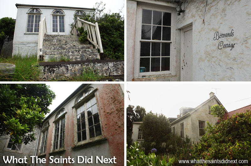 External views of Bertrand's Cottage, St Helena, at the end of 2015, before refurbishment.