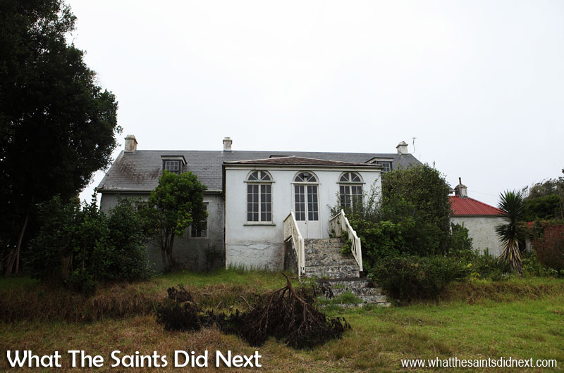 External view of Bertrand's Cottage, St Helena, at the end of 2015, before refurbishment.