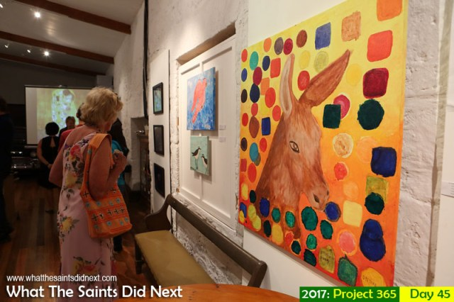 'Paris Angel' 14 February 2017, 16:41 - 1/60, f5, ISO-1000 What The Saints Did Next - 2017 Project 365 'Love' exhibition opens at the Museum of St Helena.