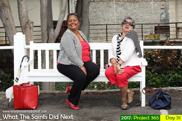 'Big wave' 20 February 2017, 15:42 - 1/200, f8, ISO-400 What The Saints Did Next - 2017 Project 365 Sitting on the bench on the Jamestown sea front, St Helena.