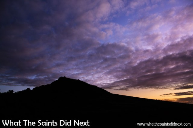 Sometimes even on a cloudy morning there's a moment of dawn beauty. This is the morning sky over Flagstaff on St Helena at 5.47am in January 2016.