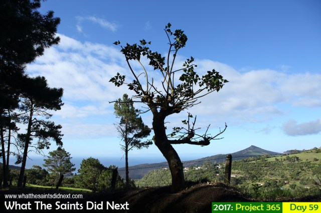 'Skyfall' 28 February 2017, 17:14 - 1/500, f8, ISO-200 What The Saints Did Next - 2017 Project 365 Landscape of Gordon's Post and Flagstaff on St Helena Island.