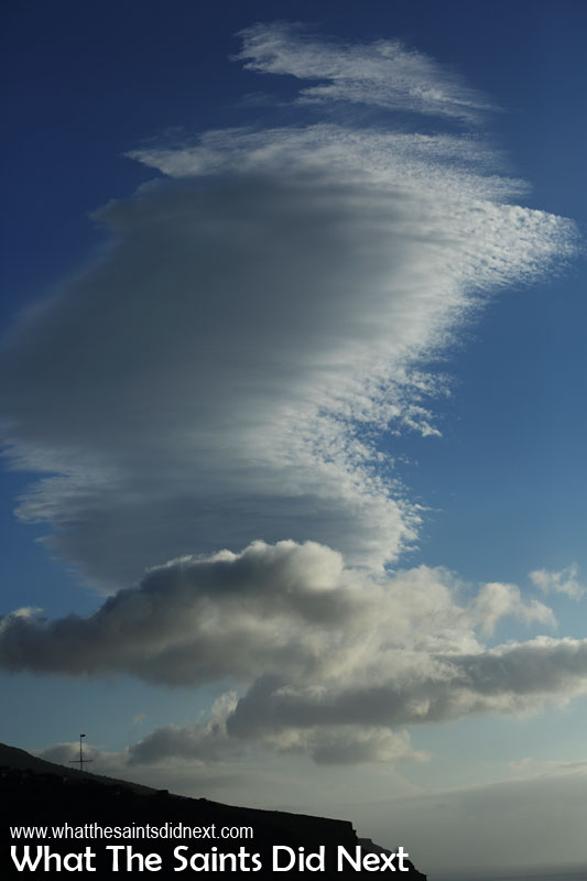 Lenticular cloud over St Helena Island
