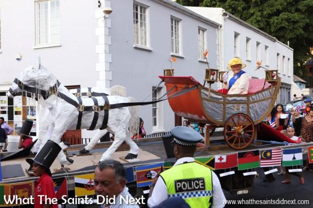 St Helena Day 2017, float parade through Jamestown.