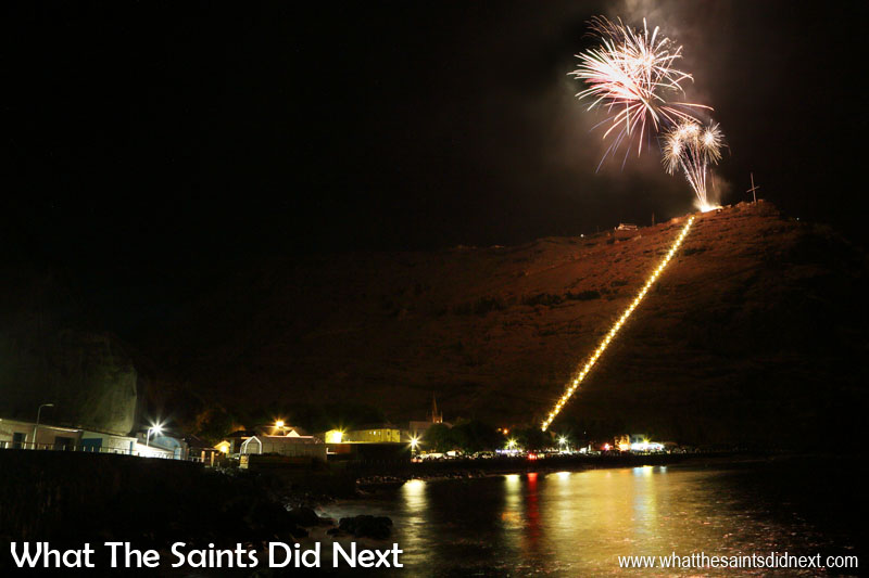 St Helena Day 2017 fireworks over Jamestown.
