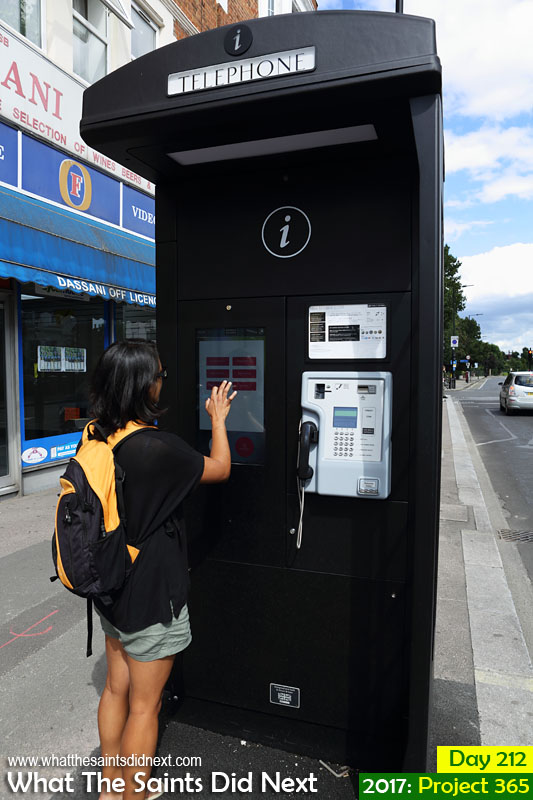 New World Payphones on the streets of London, replacing classic red phone boxes.