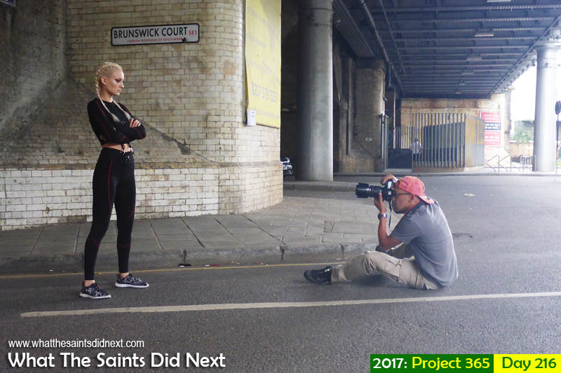 "Behind the scenes on a <a href=""http://whatthesaintsdidnext.com/2017/08/24/street-photo-shoot-in-london-bridge-fashion-model-kat/"" target=""_blank"" rel=""noopener"">street photo shoot in London</a>."