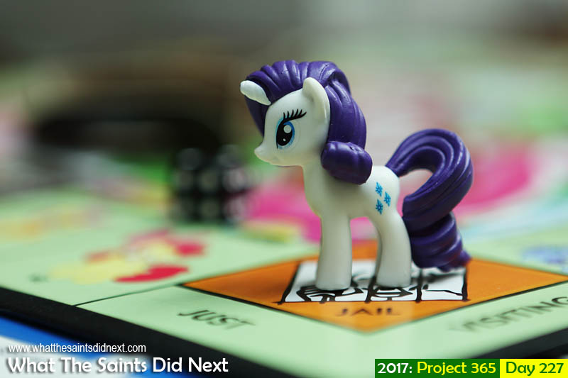 'Better or worse? Better or worse?'<br /> 15 August, 2017, 11:40 - 1/400, f3.5, ISO-200<br /> My Little Pony Monopoly game.