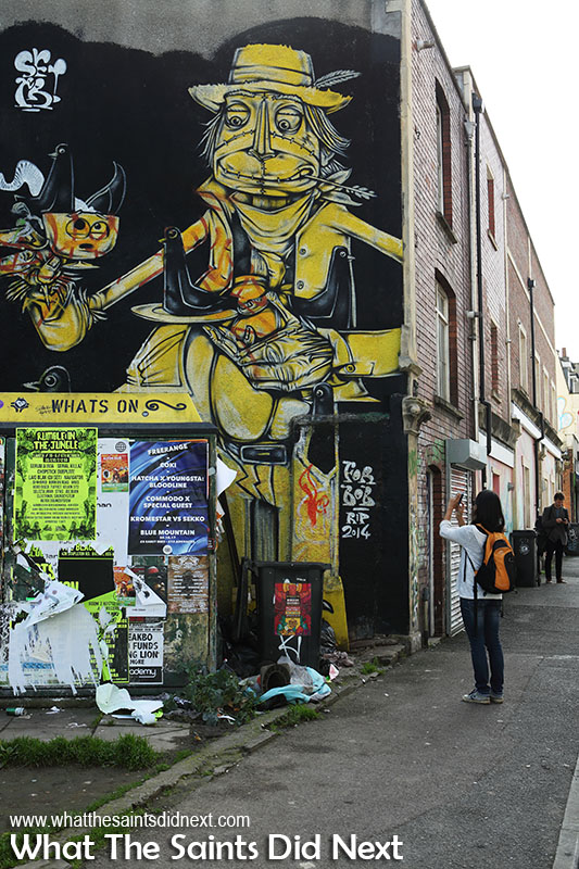 Bristol street art at Stokes Croft. A memorial for 'Bob RIP 2014'.