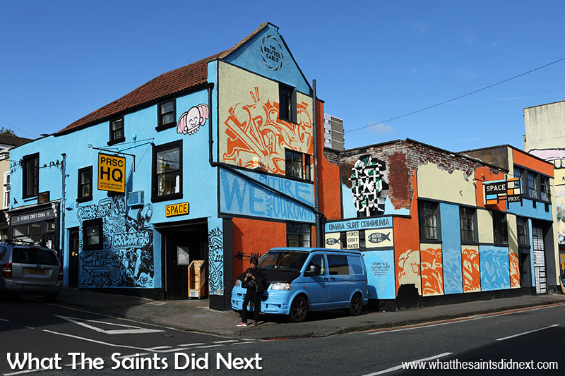 Things to see in Bristol – urban street art scene. The People's Republic of Stokes Croft headquarters.