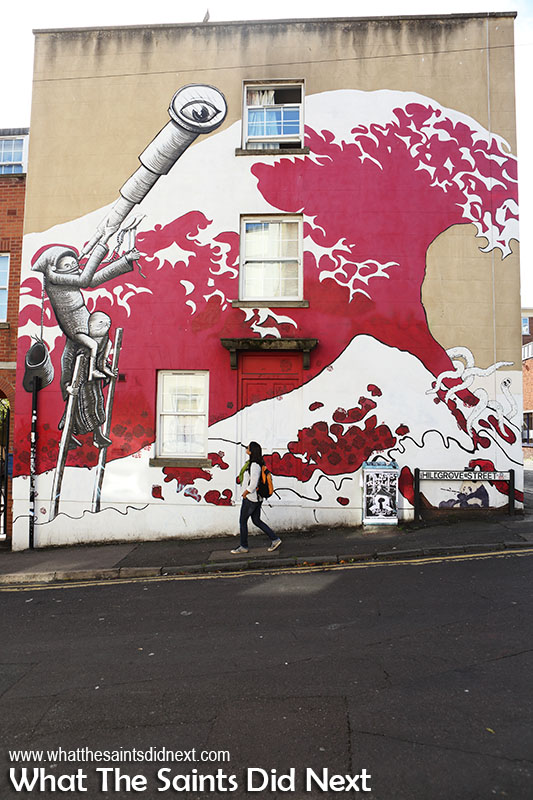 Things to do in Bristol – see the city's graffiti wall art exhibition.