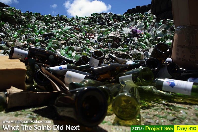 'Sia revealed'<br /> 6 November, 2017, 13:25 - 1/640, f8, ISO-200<br /> Bottles dumped at Horse Point,.<br /> #bottledump
