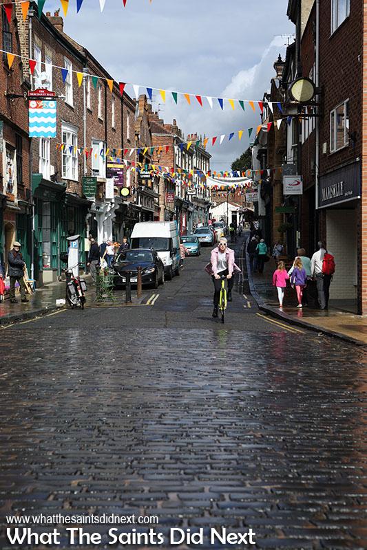 The beautiful cobblestone streets of York UK.