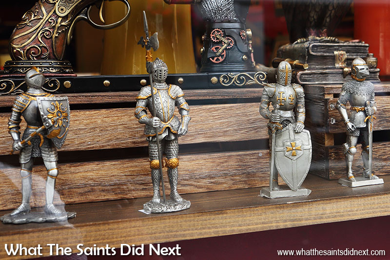 Medieval knights in the medieval city. The best of shops in York city centre.