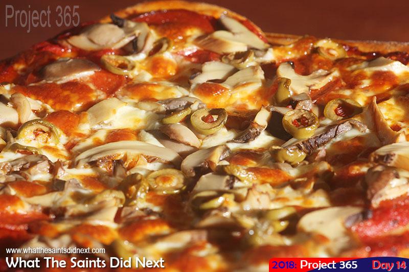 Homemade pizza. January, 2018.