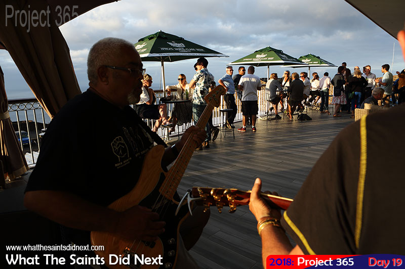 "Live music on Friday afternoon at <a href=""http://whatthesaintsdidnext.com/2017/12/10/rosies-bar-restaurant-st-helena-fantastic-grand-opening/"" target=""_blank"" rel=""noopener"">Rosie's Lounge Bar</a> at Ladder Hill. January, 2018."