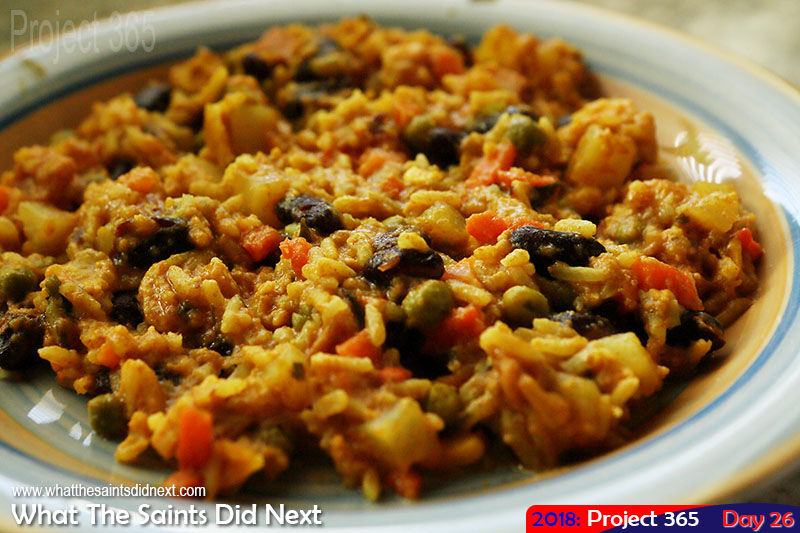 "A plateful of <a href=""http://whatthesaintsdidnext.com/the-st-helena-plo-pilau-recipe-a-one-pot-wonder/"" target=""_blank"" rel=""noopener"">yumminess and sunshine</a>. January 2018."
