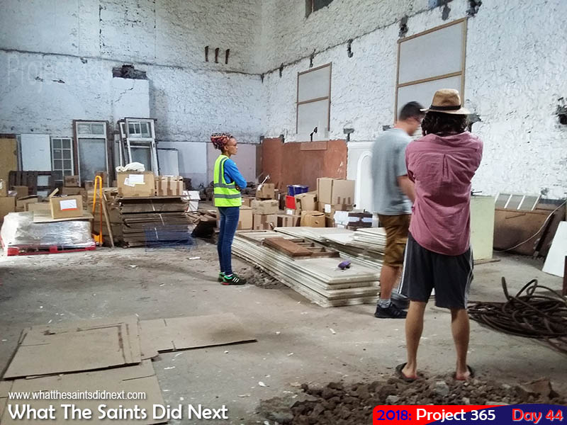 Inside the old PWSD store, scouting a recce for an exhibition. February, 2018.