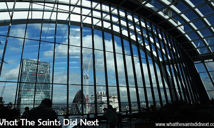 The Sky Garden On The Walkie Talkie Building in London