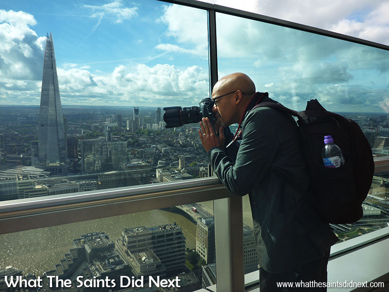 The London Sky Garden building offers an awesome view across to The Shard.  It's one of the top London attractions.