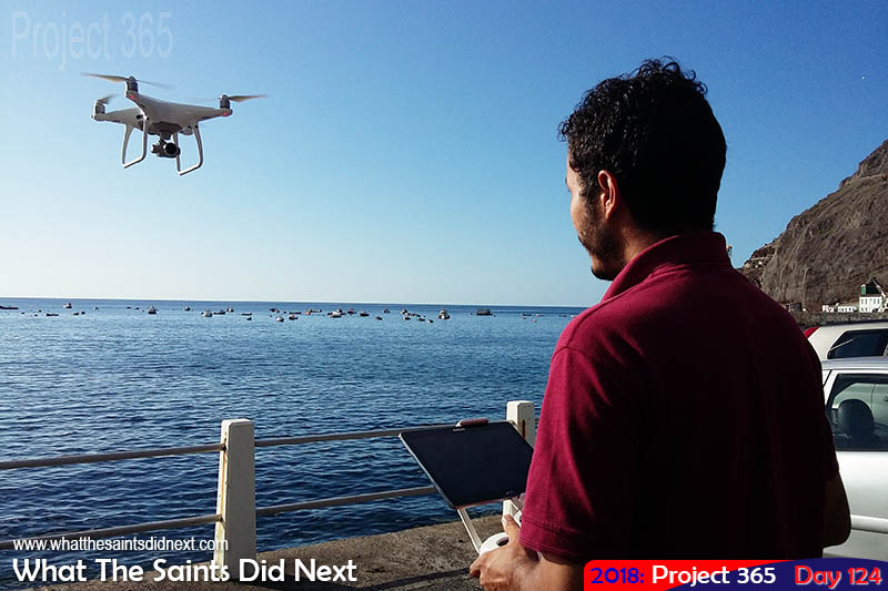 Craig Williams drone flying from the wharf.