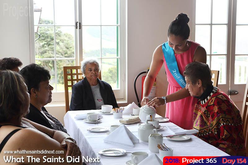 MSH 2nd Runner-Up, Niza Yon, attending a tea party.