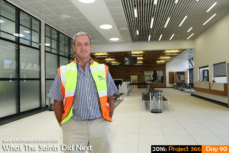 What The Saints Did Next - 2016 Project 366 Basil Read Airport Director on St Helena, Deon De Jager at the newly built St Helena Airport.