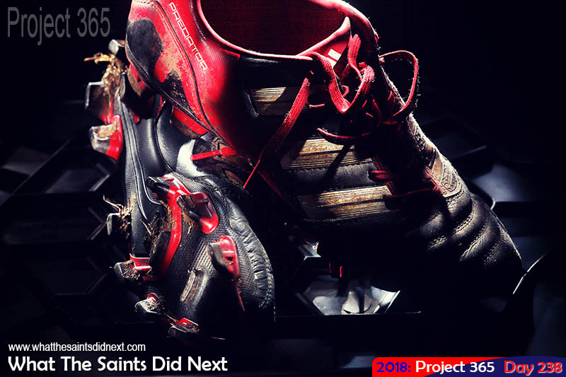 Adidas Predator football boots.
