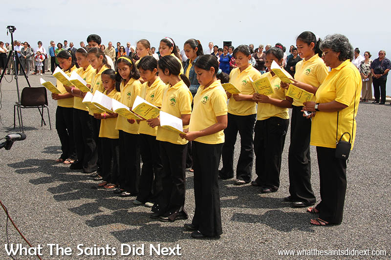 St Paul's Primary School pupils singing at the CCC opening ceremony, 6 September, 2008.