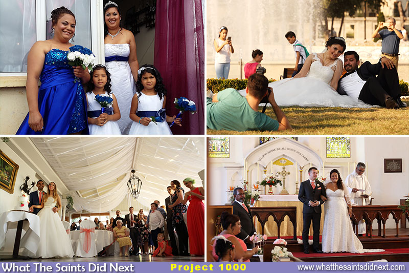 Wedding photos have been a feature in our 1000 days 1000 pictures adventure. Clockwise from top left: 2016 Day 366 on St Helena. 2018 Day 179 in Istanbul. Day 7 2017 on St Helena. 2018 Day 189 in England.
