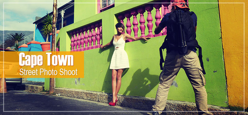 Street photo shoot in Bo Kaap district Cape Town
