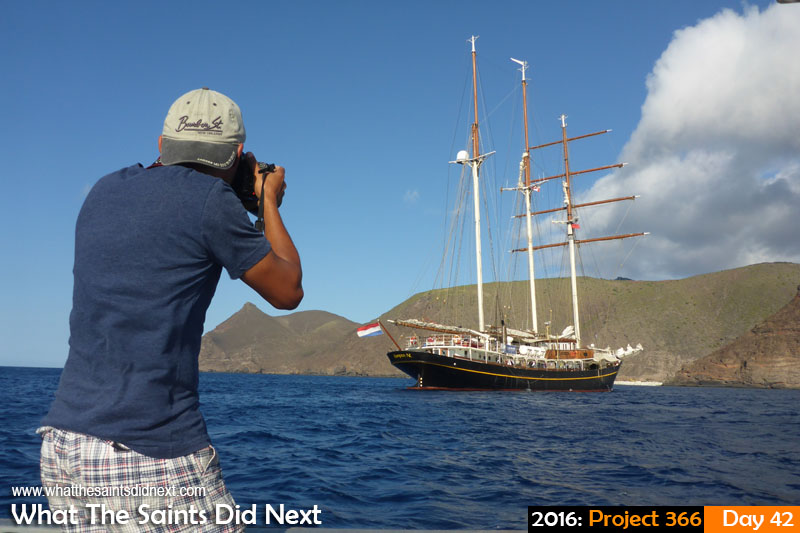 Photographing the Dutch tall ship, Golden Lion or Gulden Leeuw, in February, 2016