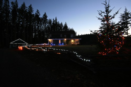 Christmas Lights in Sooke