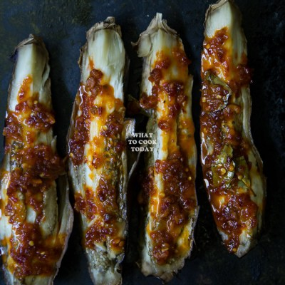 Sambal Terong Bakar / Roasted Eggplants with Sambal