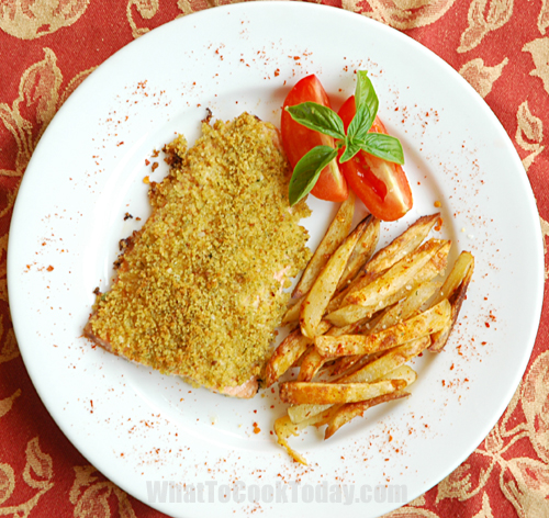 CRUNCHY TOPPED FISH WITH POTATOES